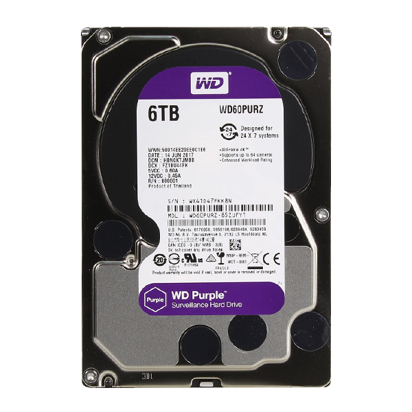 6 ТБ Жесткий диск Western Digital Purple WD60PURZ